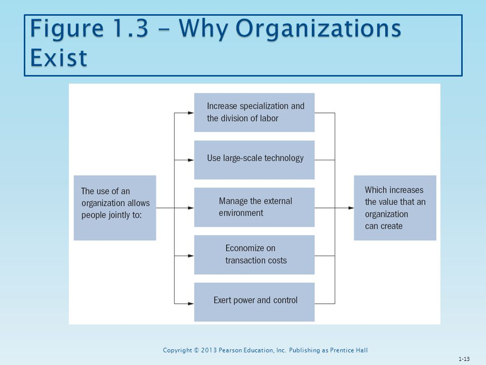 Figure 1.3 - Why Organizations Exist
