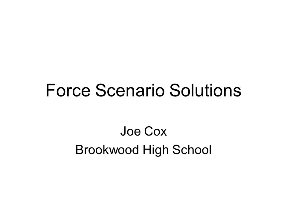 Force Scenario Solutions