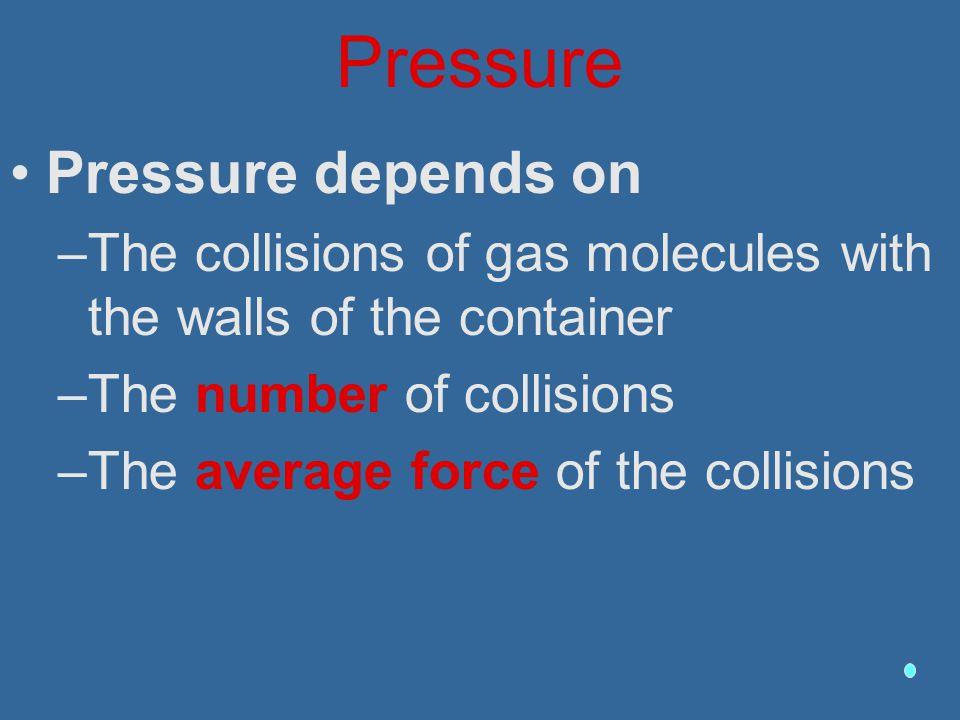 Pressure Pressure depends on