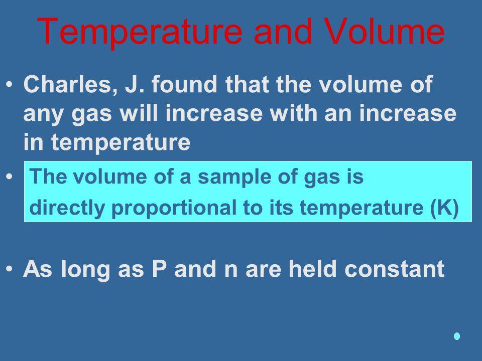 Temperature and Volume