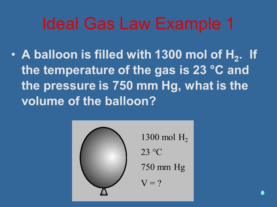 Ideal Gas Law Example 1