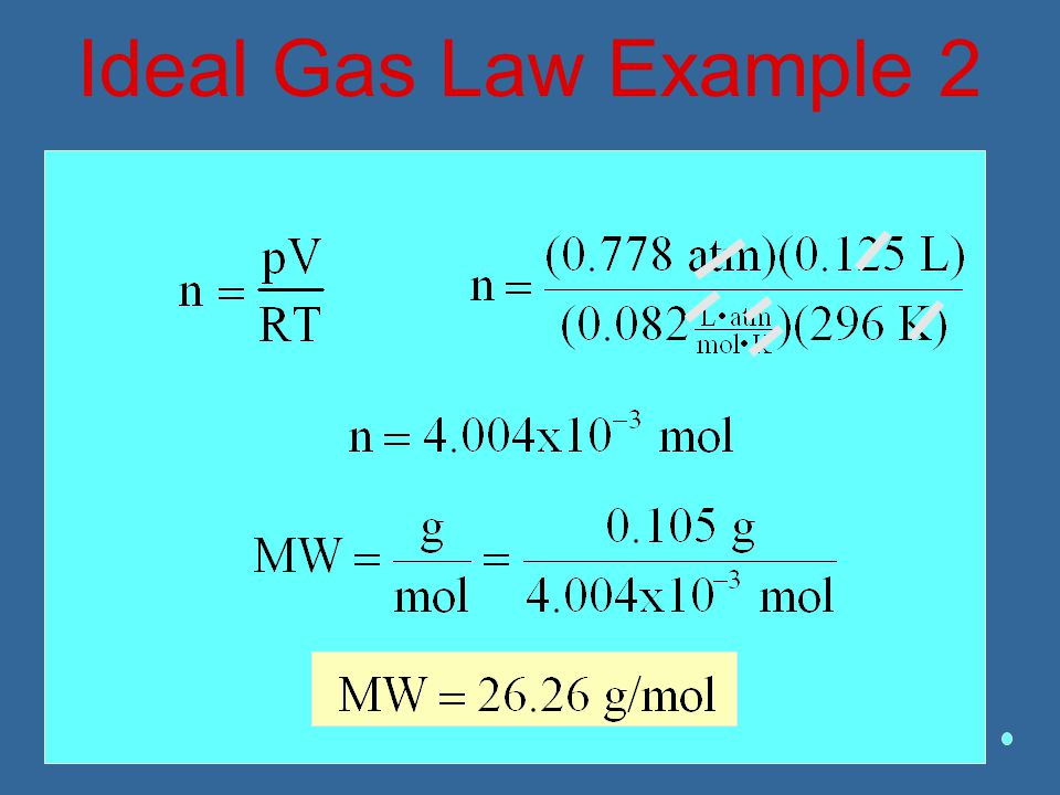 Ideal Gas Law Example 2