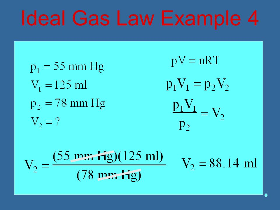 Ideal Gas Law Example 4
