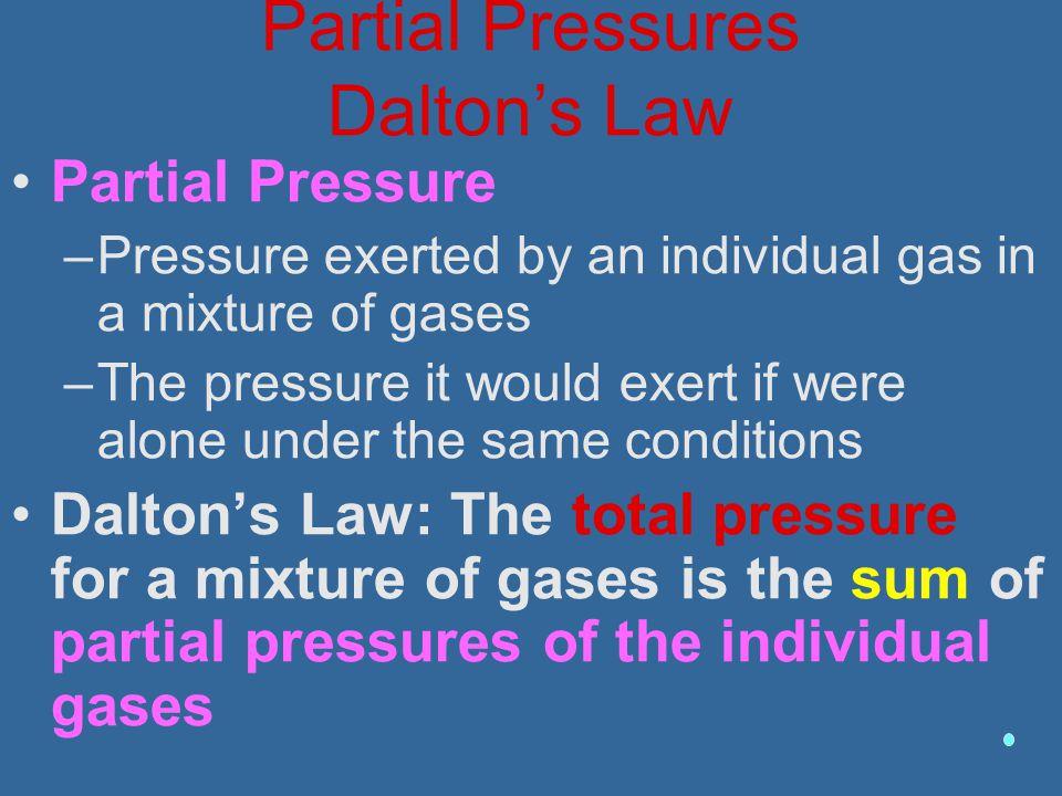 Partial Pressures Dalton's Law