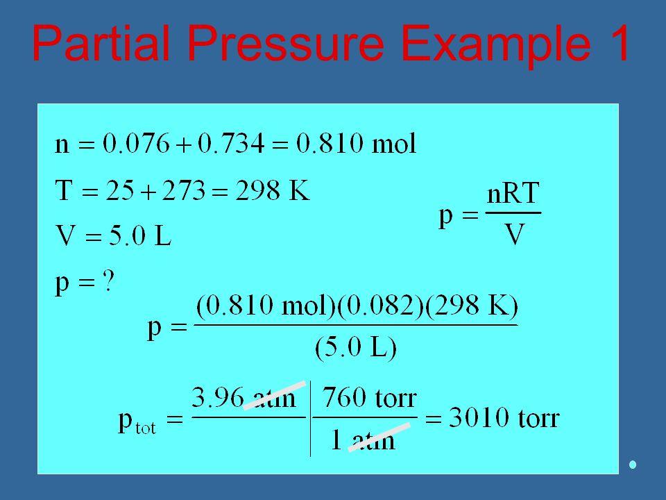 Partial Pressure Example 1