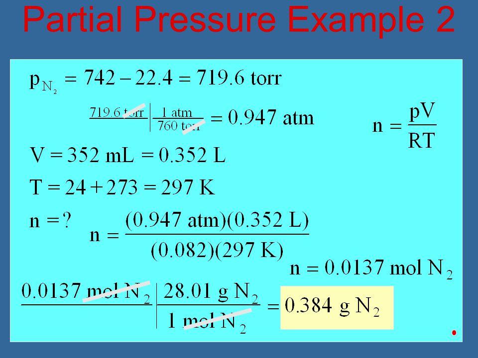 Partial Pressure Example 2