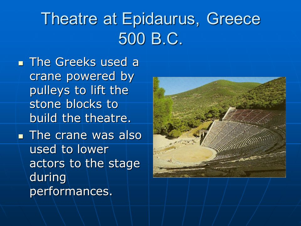 Theatre at Epidaurus, Greece 500 B.C.