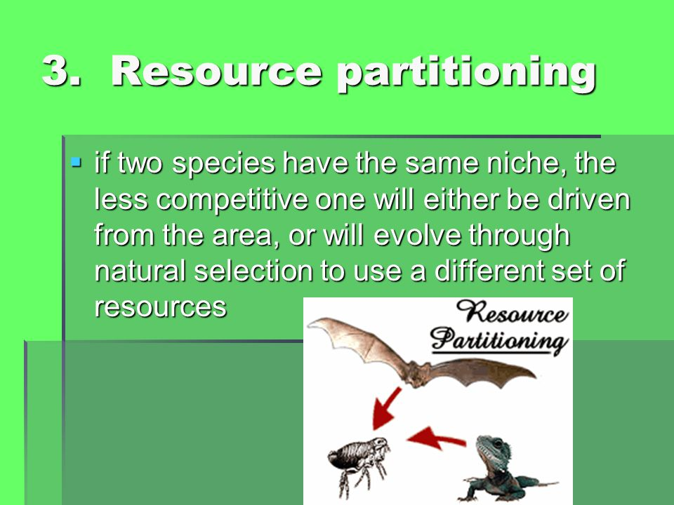 3. Resource partitioning