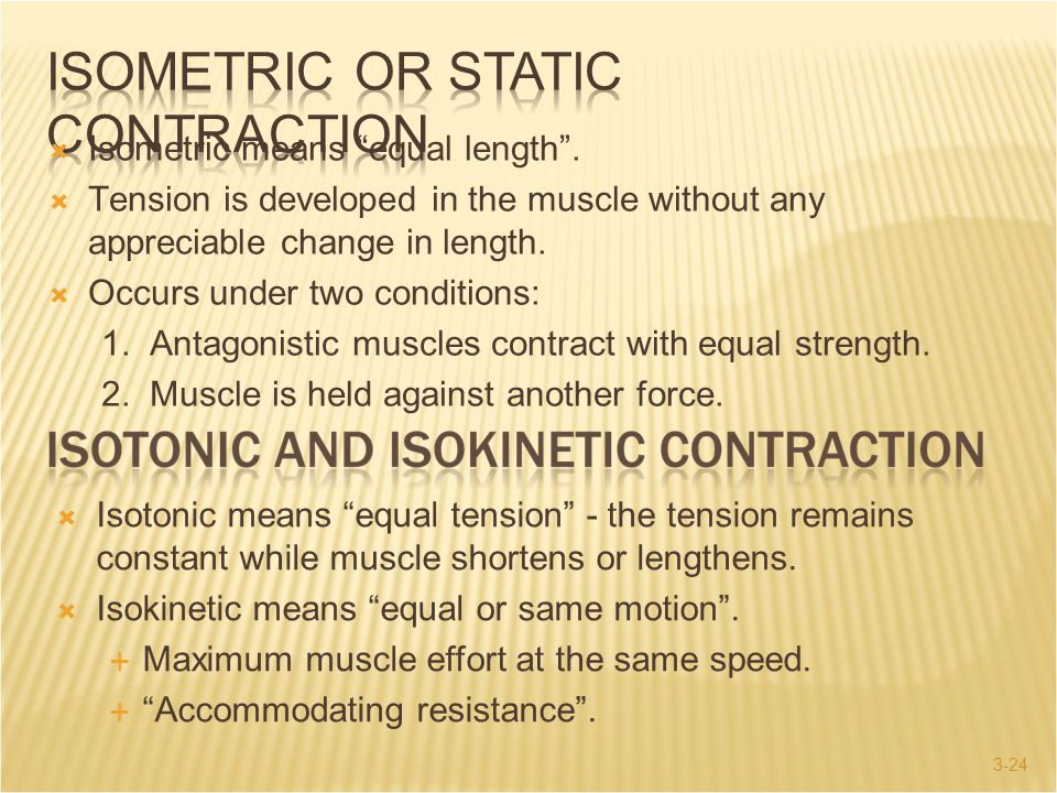 Isometric or Static Contraction