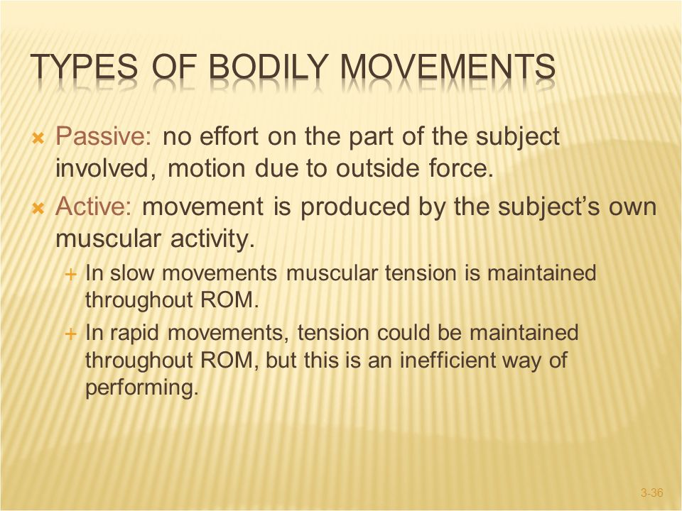 Types of Bodily Movements