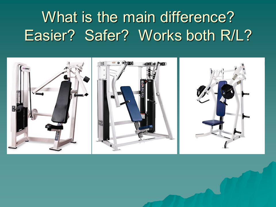 What is the main difference Easier Safer Works both R/L