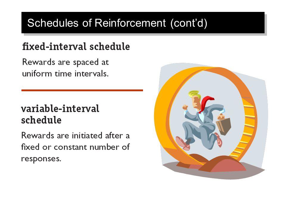 Schedules of Reinforcement (cont'd)