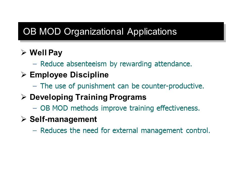 OB MOD Organizational Applications