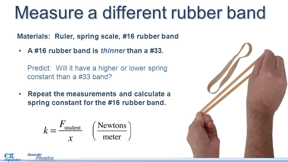 Measure a different rubber band