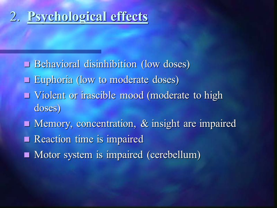 2. Psychological effects