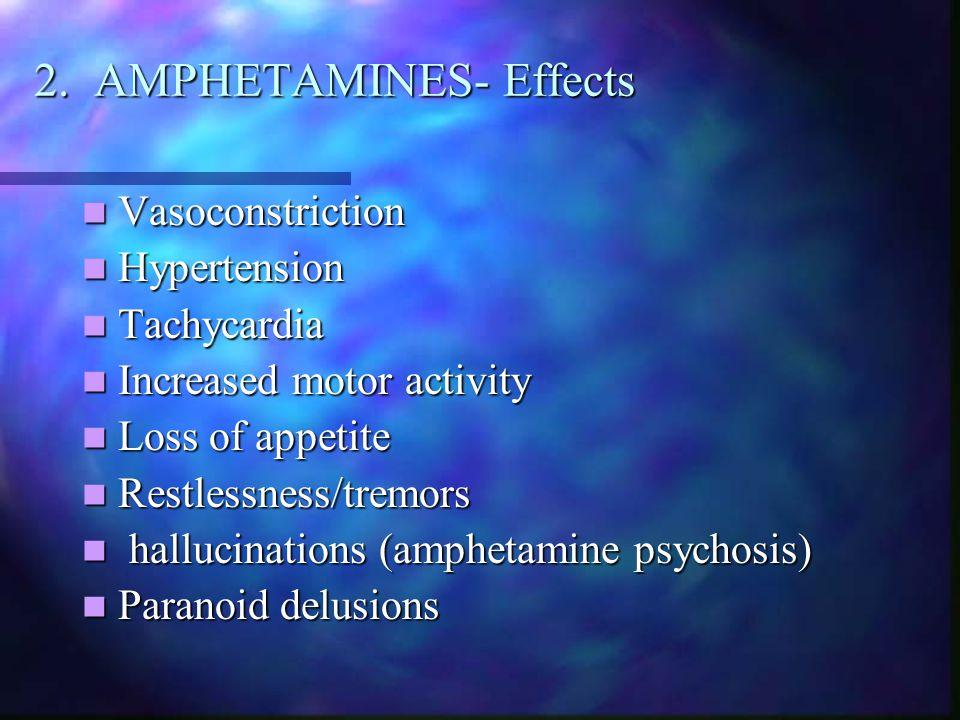 2. AMPHETAMINES- Effects
