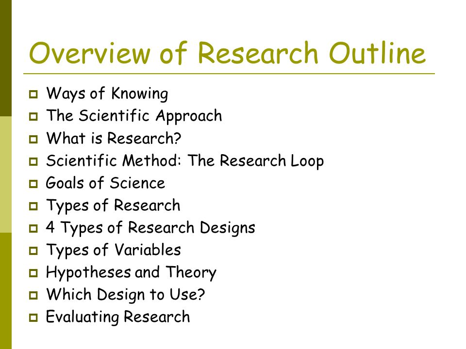 outline of research outline of research outline of research