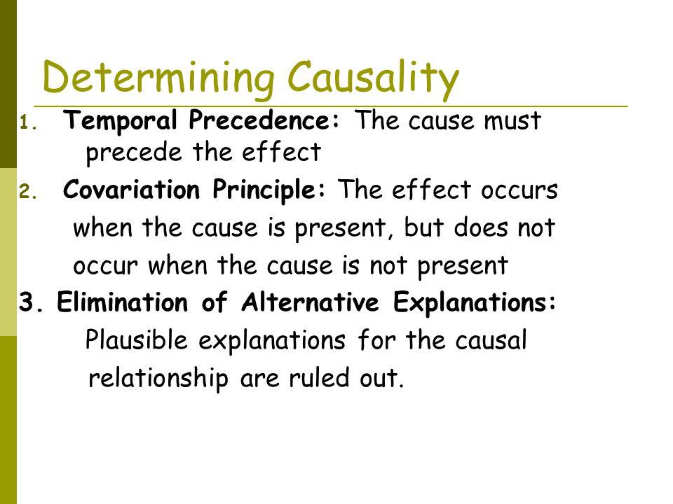 Determining Causality