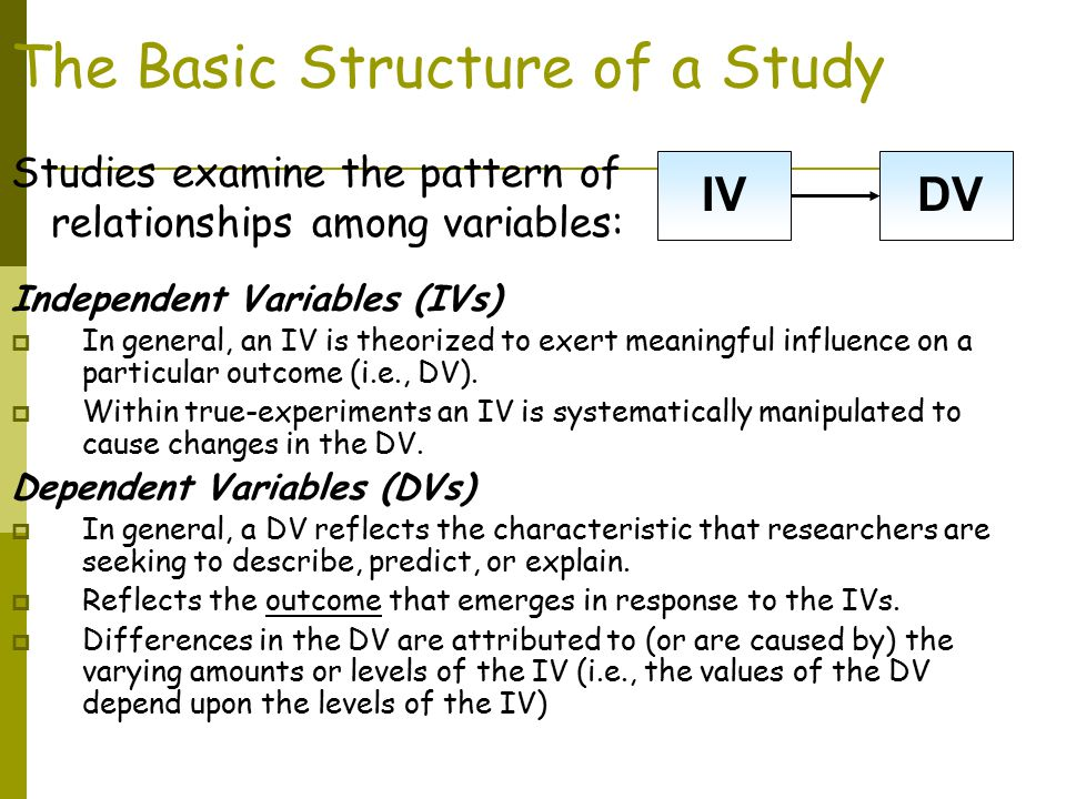 The Basic Structure of a Study