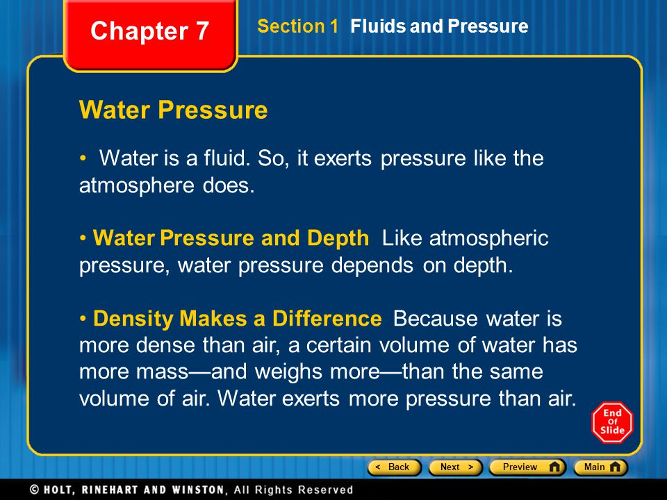 Chapter 7 Water Pressure