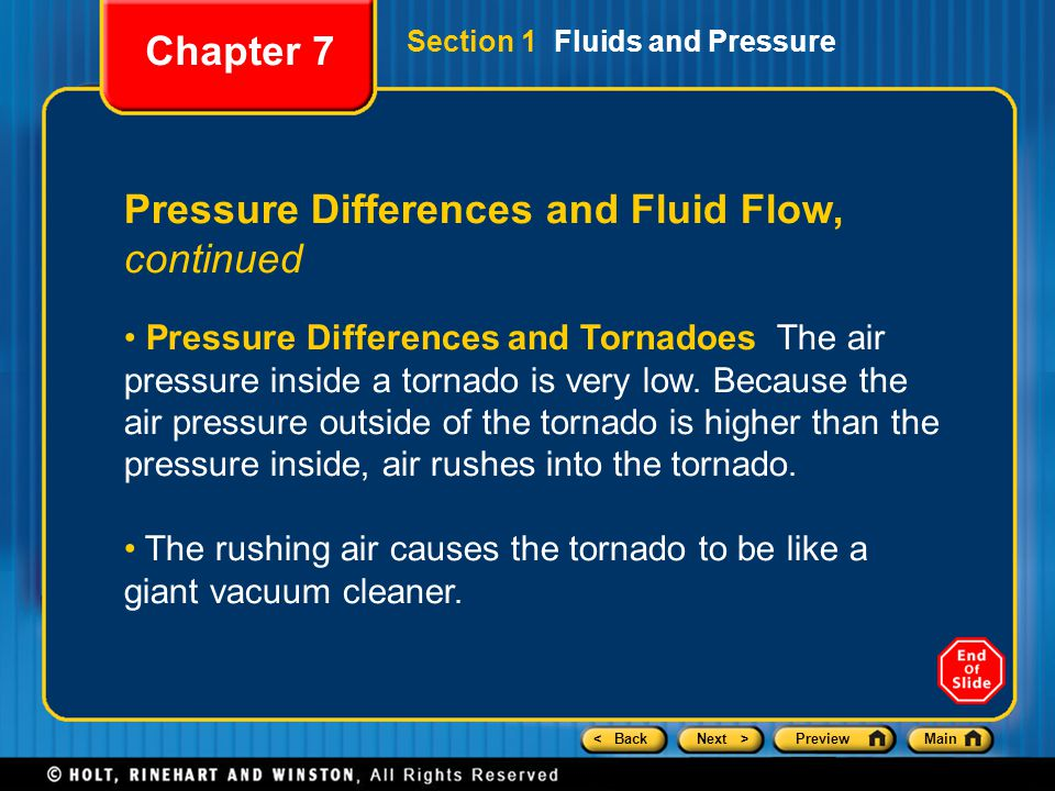 Pressure Differences and Fluid Flow, continued