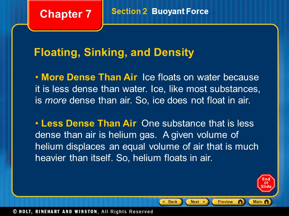 Floating, Sinking, and Density