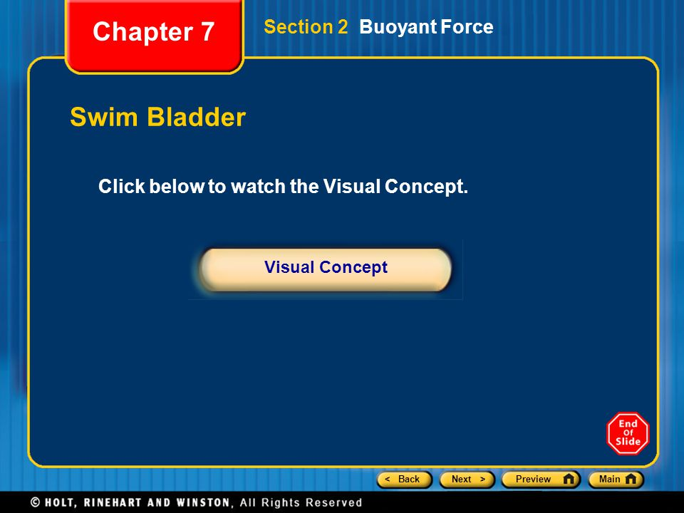 Chapter 7 Swim Bladder Section 2 Buoyant Force