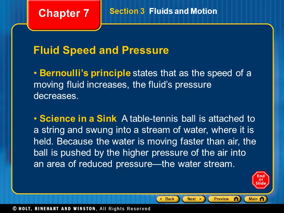 Fluid Speed and Pressure