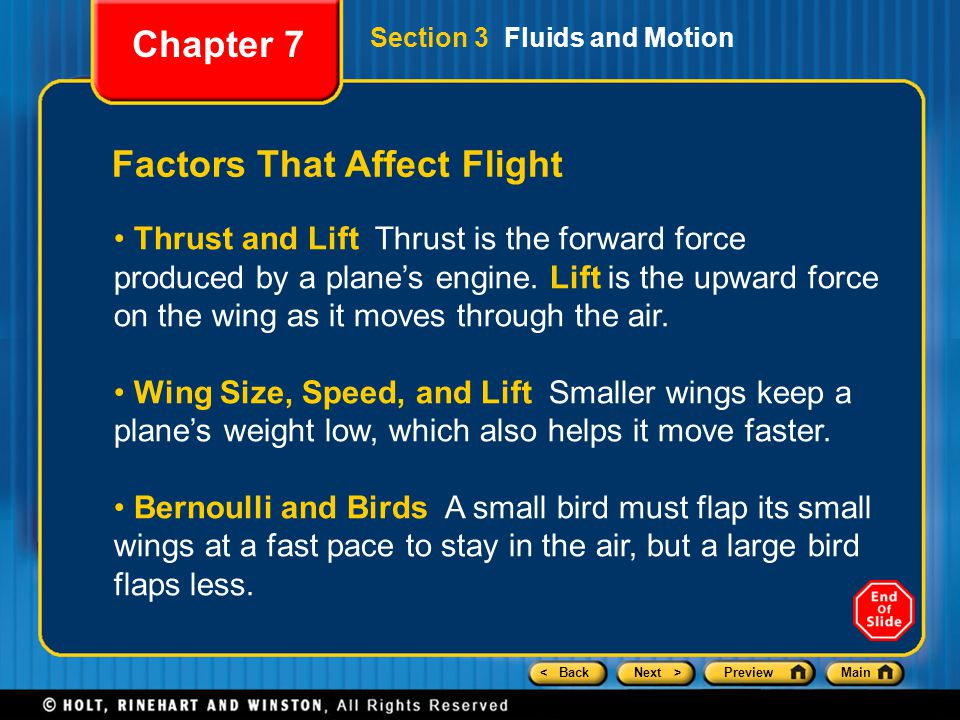 Factors That Affect Flight