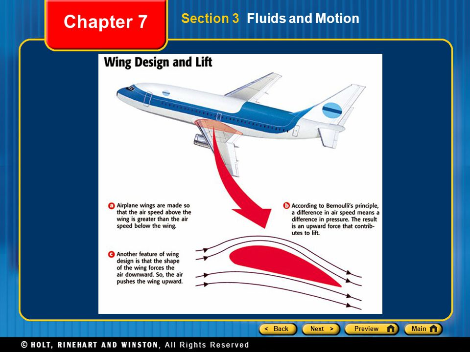 Chapter 7 Section 3 Fluids and Motion