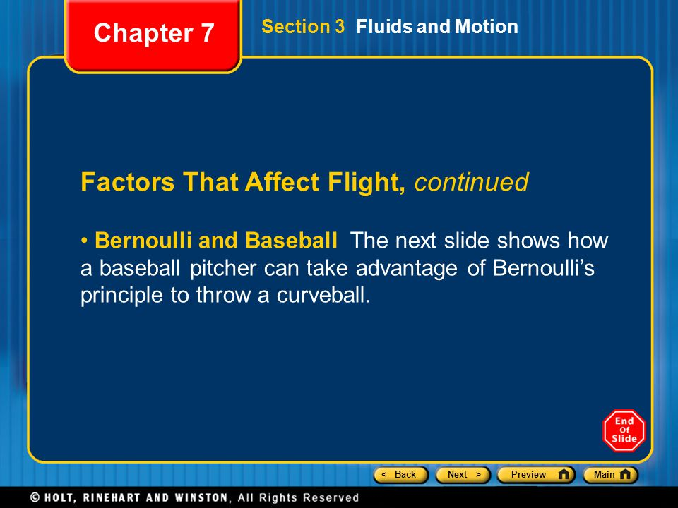 Factors That Affect Flight, continued