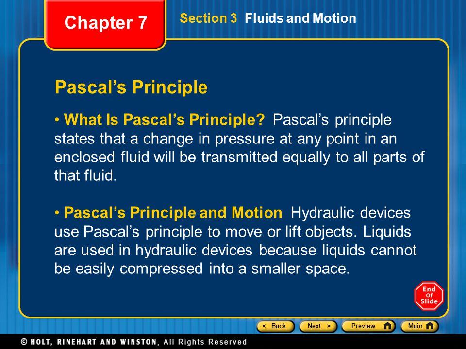 Chapter 7 Pascal's Principle