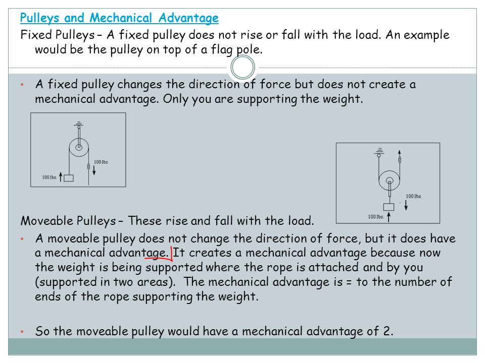 Pulleys and Mechanical Advantage