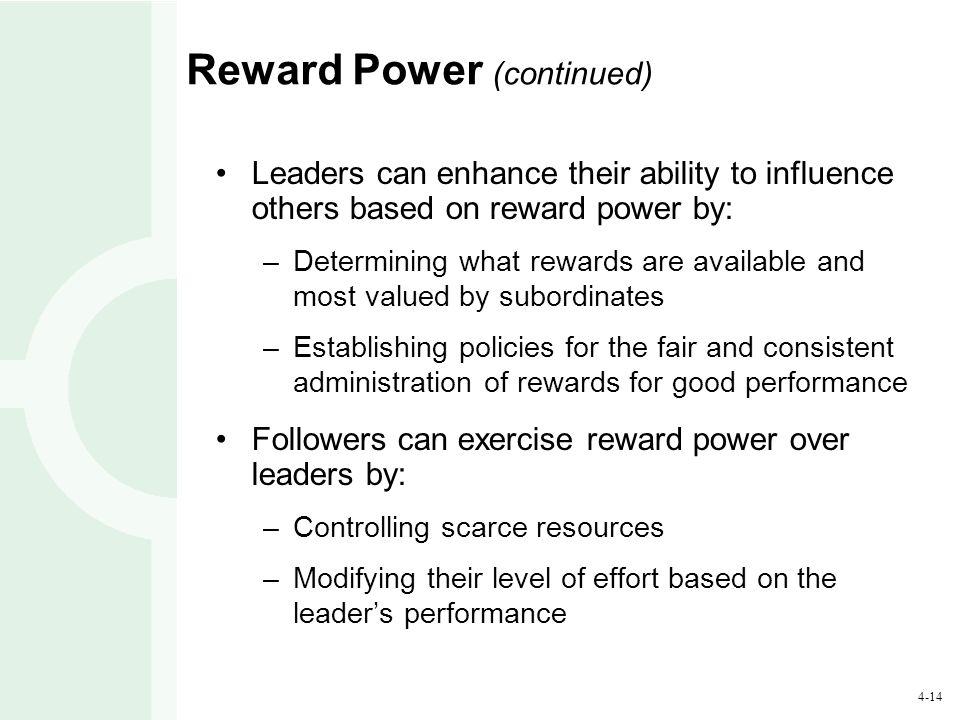 Reward Power (continued)
