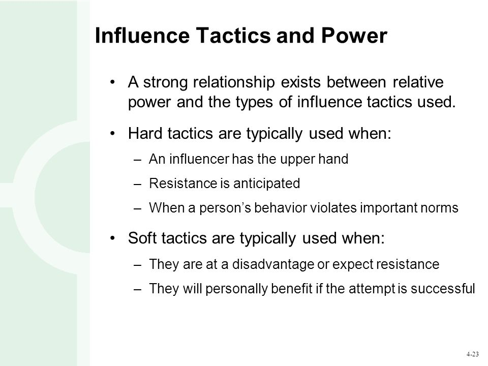 Influence Tactics and Power