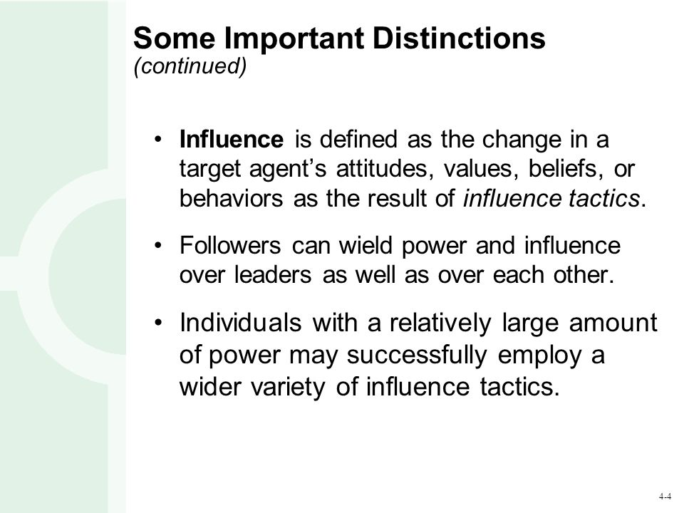 Some Important Distinctions (continued)