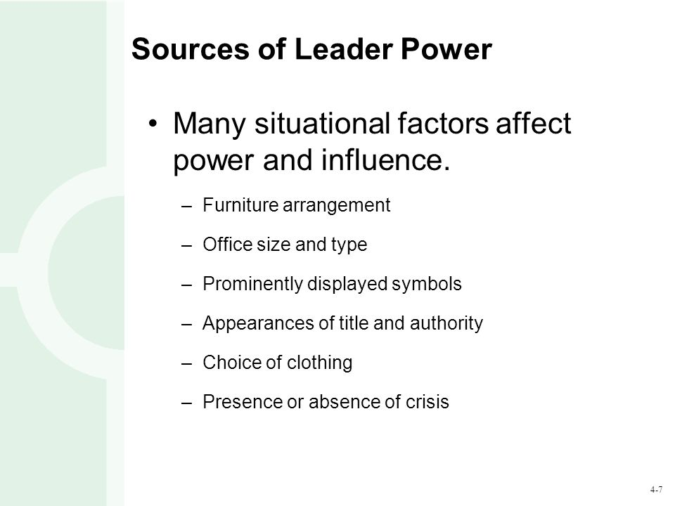 Sources of Leader Power