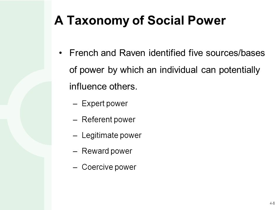 A Taxonomy of Social Power