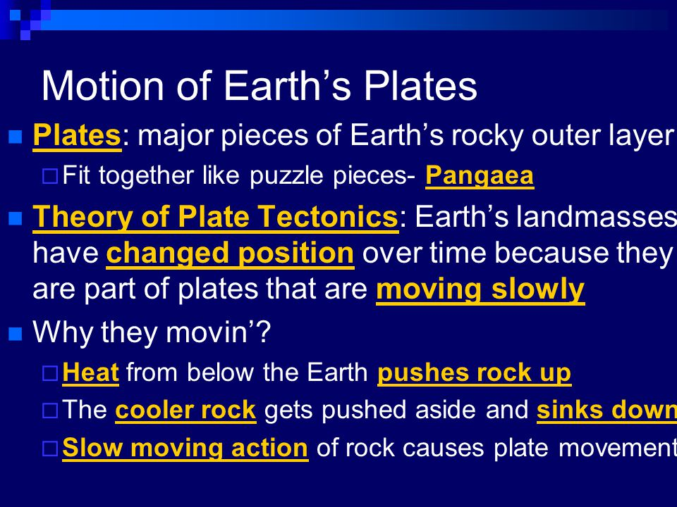 Motion of Earth's Plates