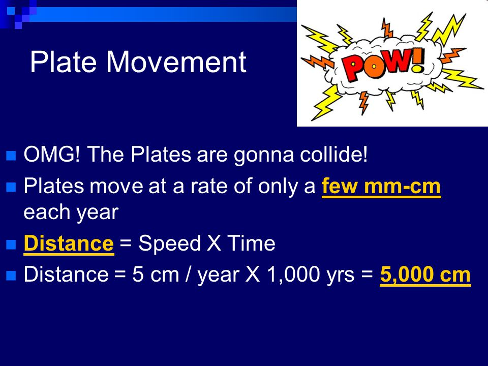 Plate Movement OMG! The Plates are gonna collide!