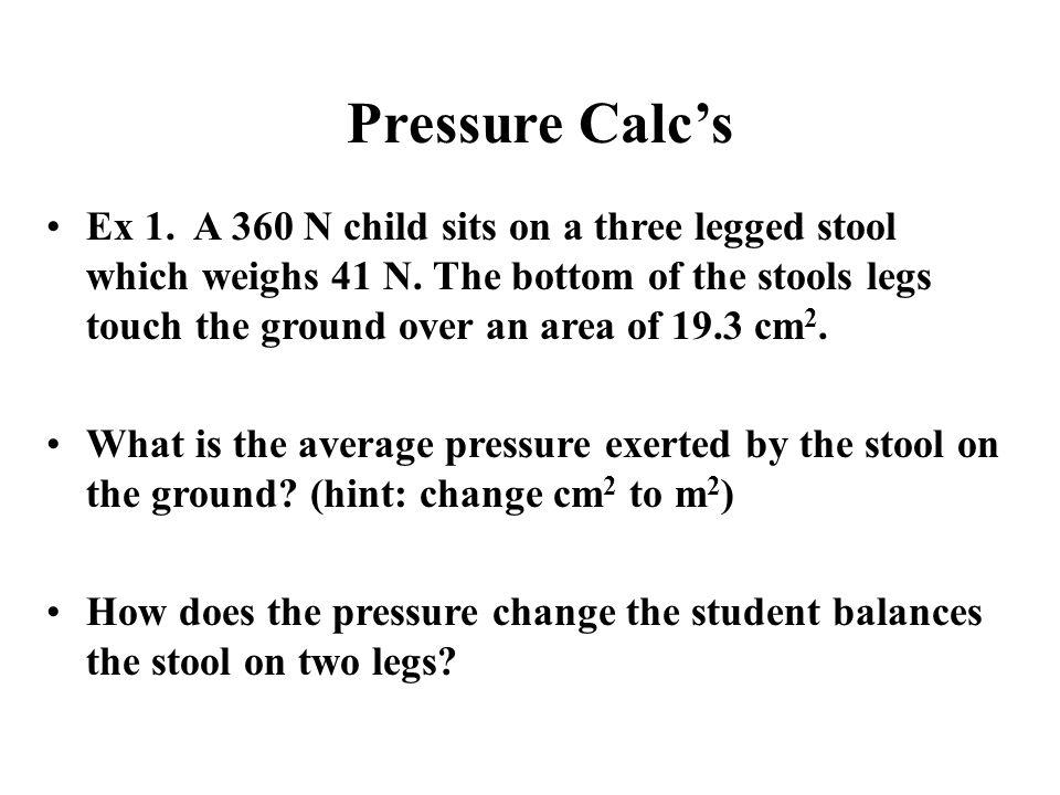 Pressure Calc's