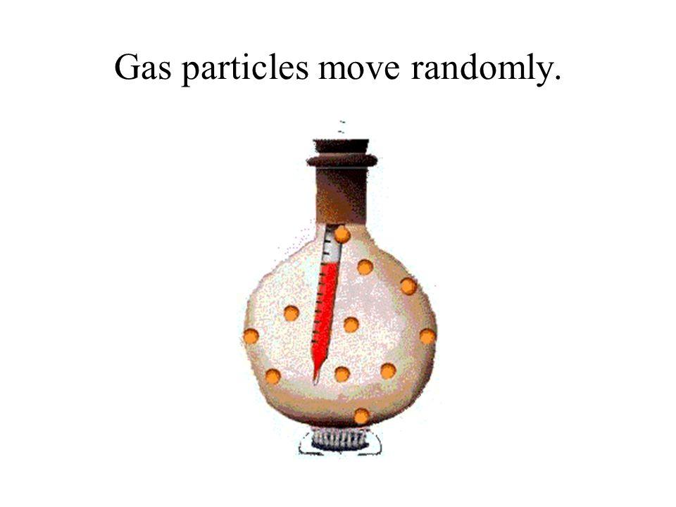 Gas particles move randomly.