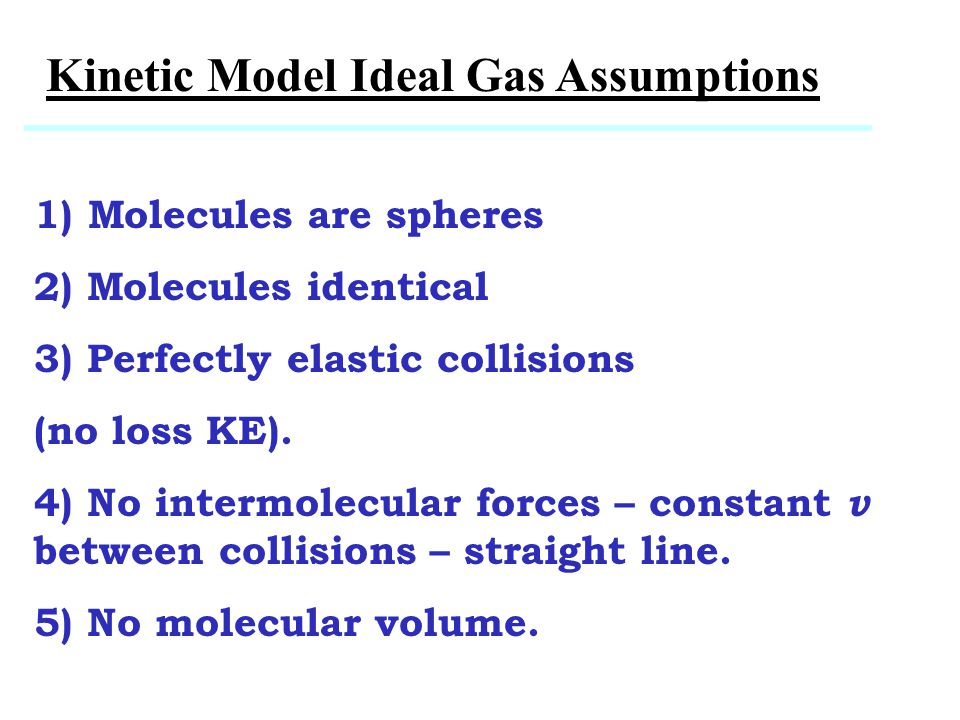 Kinetic Model Ideal Gas Assumptions