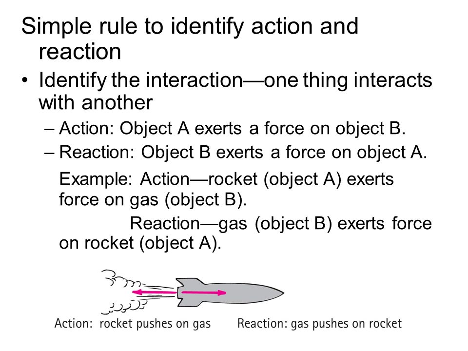 Simple rule to identify action and reaction