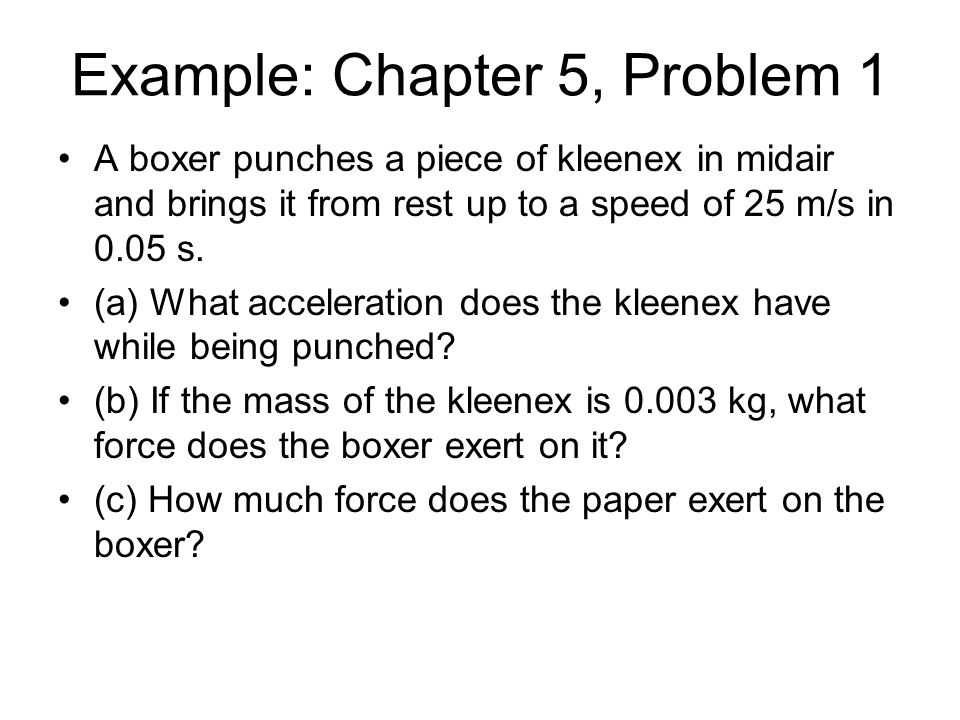Example: Chapter 5, Problem 1