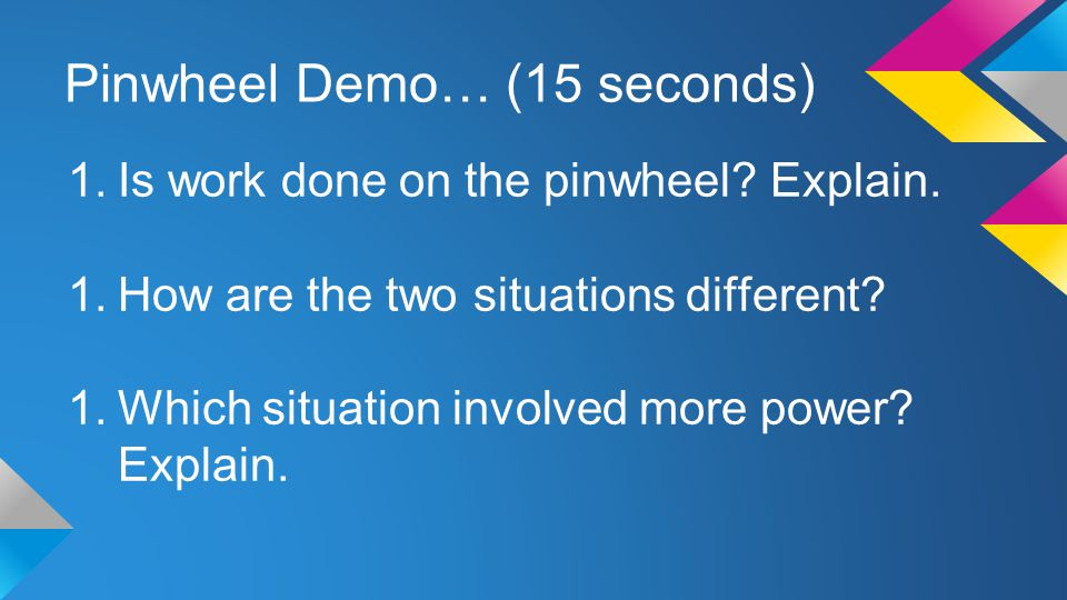 Pinwheel Demo… (15 seconds)