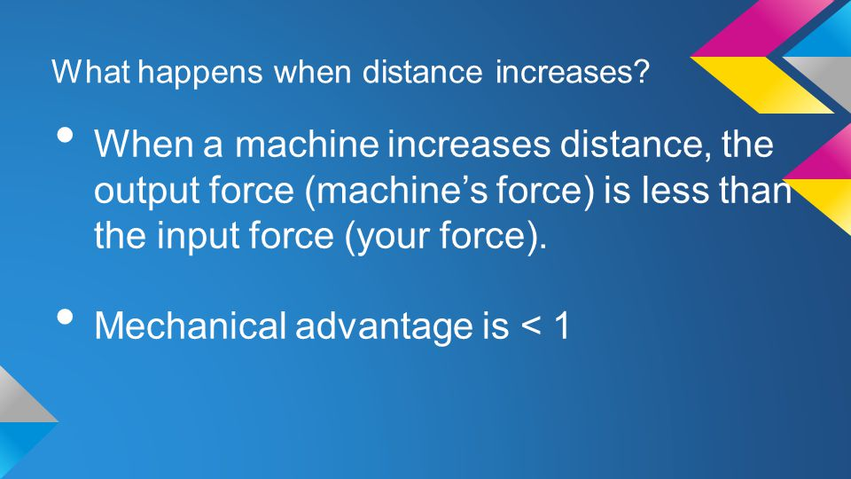 What happens when distance increases