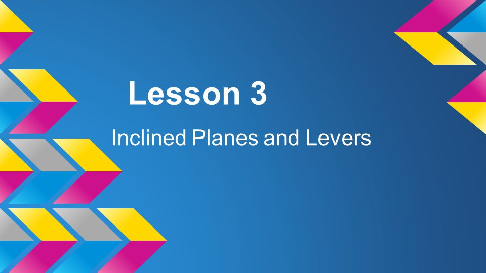 Inclined Planes and Levers