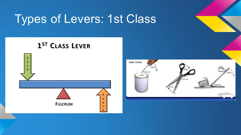 Types of Levers: 1st Class