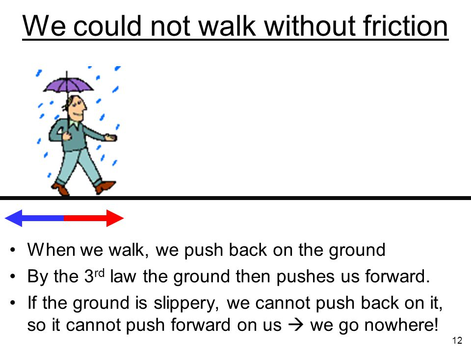 We could not walk without friction